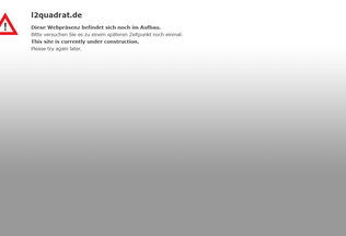 Website l2quadrat.de desktop preview