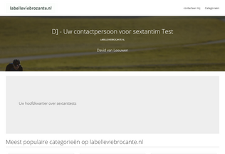 Website labelleviebrocante.nl desktop preview