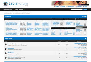 Website labiaforum.com desktop preview