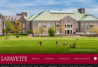 Website lafayette.edu desktop preview