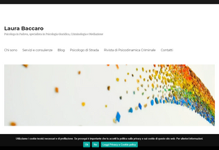 Website laurabaccaro.it desktop preview