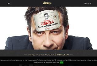 Website laurentgerra.fr desktop preview