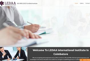 Website ledaa.in desktop preview
