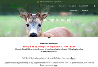 Website lemsognsjagtforening.dk desktop preview
