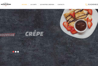 Website lesmaitrescrepiers.fr desktop preview