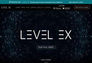 Website levelex.com desktop preview