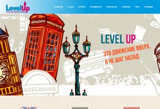 Website levelup.dn.ua desktop preview