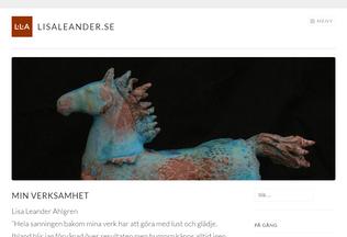 Website lisaleander.se desktop preview