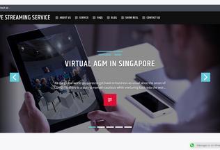 Website livestreaming.com.sg desktop preview