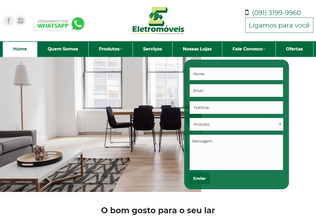 Website lojaseletromoveis.com.br desktop preview