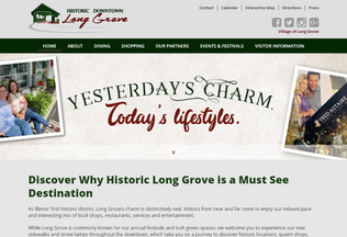 Website longgrove.org desktop preview