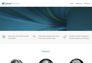 Website lotuspartners.eu desktop preview