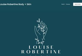 Website louiserobertine.com desktop preview