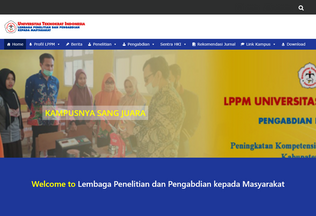 Website lppm.teknokrat.ac.id desktop preview