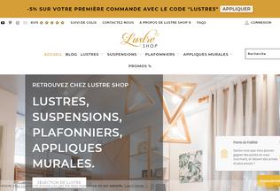 Website lustre-shop.fr desktop preview