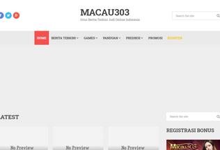 Website macau303.asia desktop preview