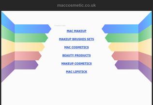 Website maccosmetic.co.uk desktop preview