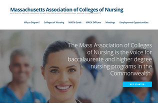 Website macn-nursing.org desktop preview