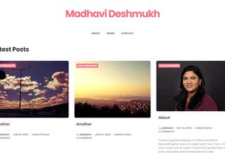 Website madhavi.net desktop preview