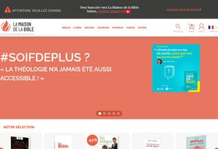 Website maisonbible.fr desktop preview