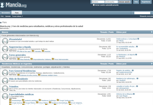 Website mancia.org desktop preview