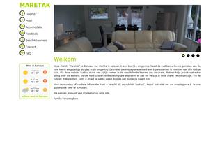 Website maretak.be desktop preview