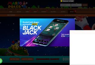 Website mariopoker.biz desktop preview
