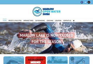 Website marlowopenwaterswim.co.uk desktop preview