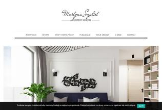 Website martynaszulist.pl desktop preview