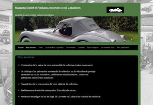 Website mascottoexpertisecollection.fr desktop preview