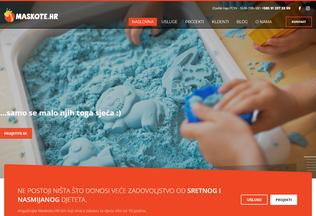Website maskote.hr desktop preview