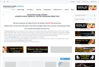 Website massageguidelondon.com desktop preview