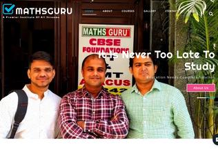 Website mathsguru.org desktop preview