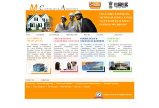 Website mchoudhary.com desktop preview