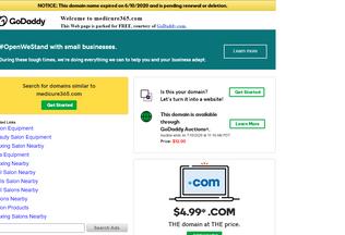 Website medicure365.com desktop preview