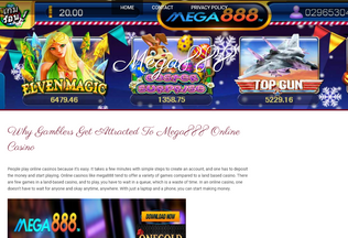 Website mega888onlineslotgames.bravesites.com desktop preview