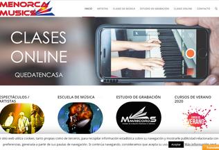Website menorcamusics.es desktop preview