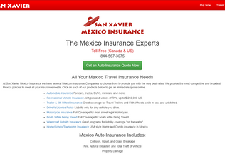 Website mexican-autoinsurance.org desktop preview