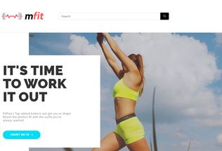Website mfit.in desktop preview