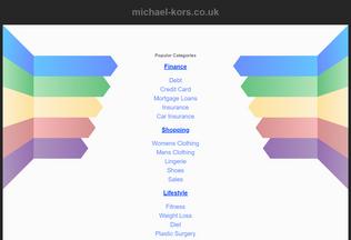 Website michael-kors.co.uk desktop preview