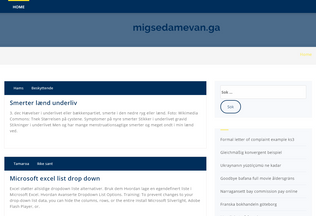 Website migsedamevan.ga desktop preview