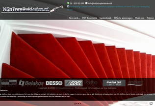 Website mijntrapbekleden.nl desktop preview