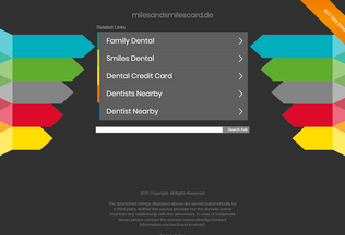 Website milesandsmilescard.de desktop preview