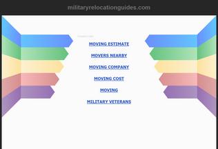 Website militaryrelocationguides.com desktop preview