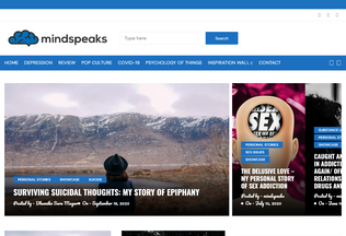 Website mindspeaks.co desktop preview
