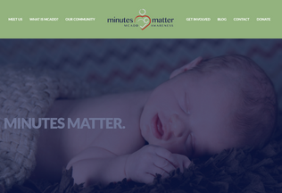 Website minutesmatter-mcadd.org desktop preview