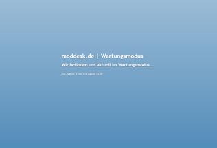 Website moddesk.de desktop preview