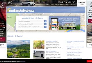 Website mojabystrica.sk desktop preview