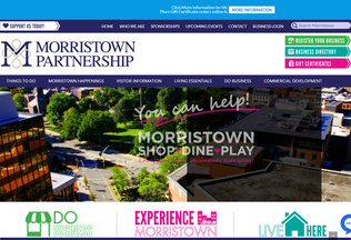 Website morristownnj.org desktop preview