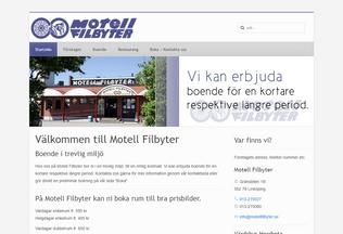 Website motellfilbyter.se desktop preview